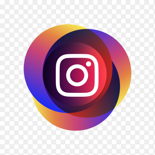 Instagram icon with colorful design on transparent background PNG