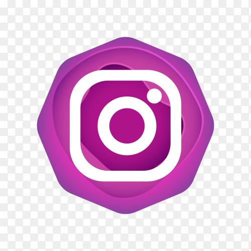 Instagram logo design on transparent background PNG