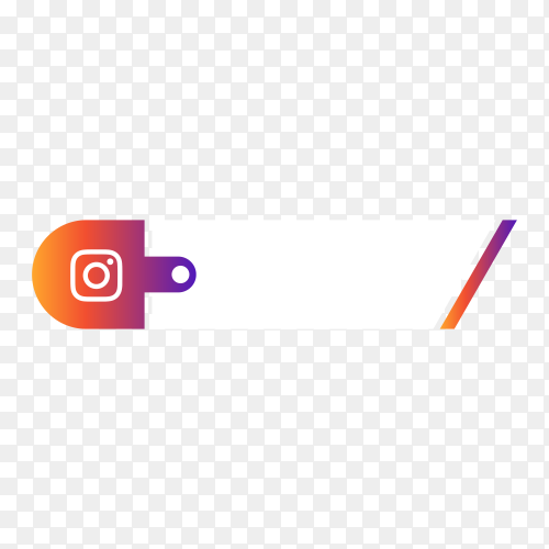 Instagram lower third icon on transparent background PNG