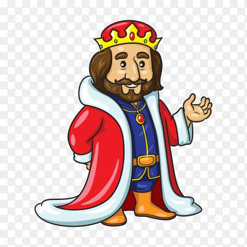 King queen cute cartoon premium vector PNG