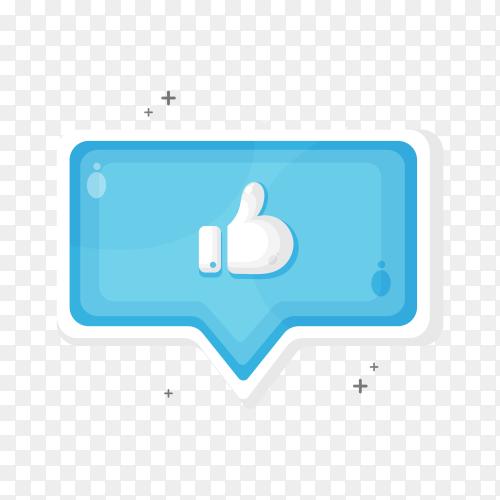 Like icon design illustration on transparent background PNG