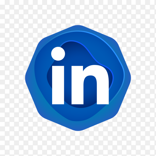 Linkedin logo design on transparent background PNG