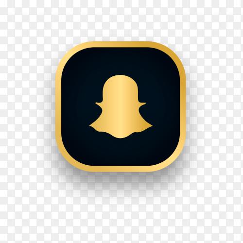 Luxury Snapchat logo design on transparent background PNG