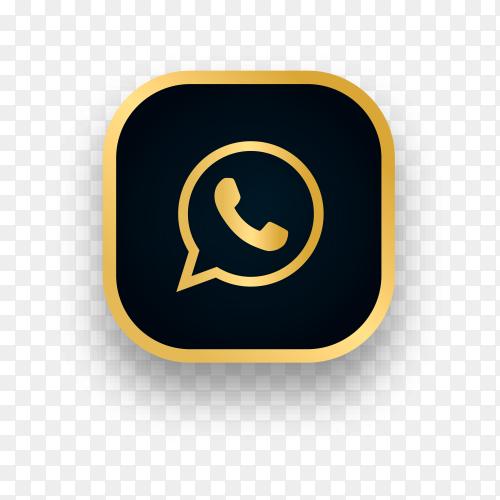 Luxury Whatsapp logo design on transparent background PNG