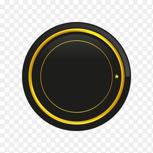 Luxury golden empty badge and label design premium vector PNG