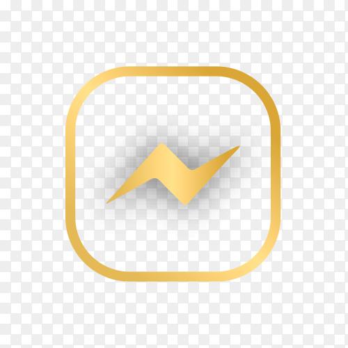 Luxury messenger logo design on transparent background PNG