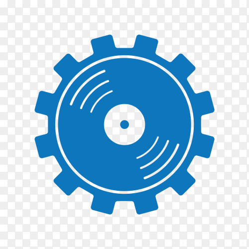 Machine energy logo design on transparent background PNG