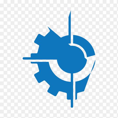 Machine energy logo isolated on transparent background PNG