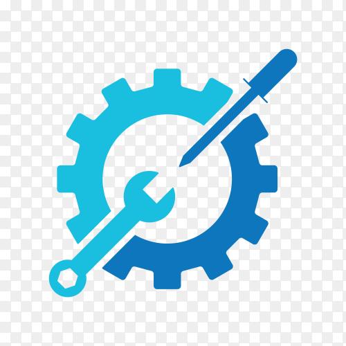 Machine energy logo on transparent background PNG