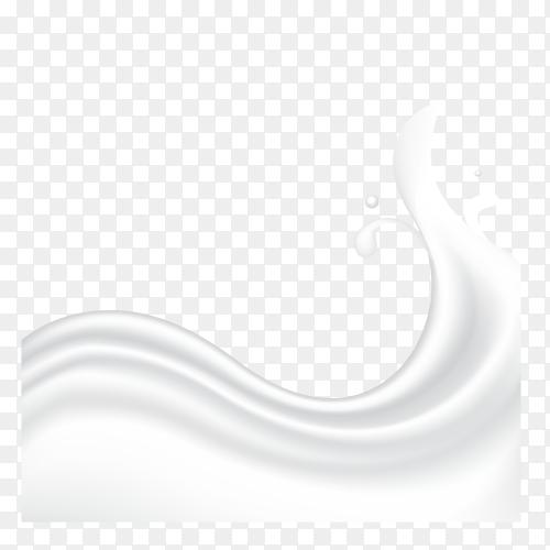 Milk or yogurt splash premium vector PNG