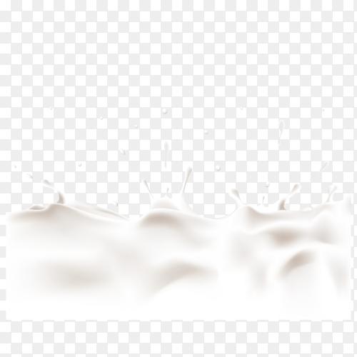 Milk splash isolated on transparent background PNG