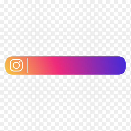 Modern Instagram lower third icon template on transparent background PNG