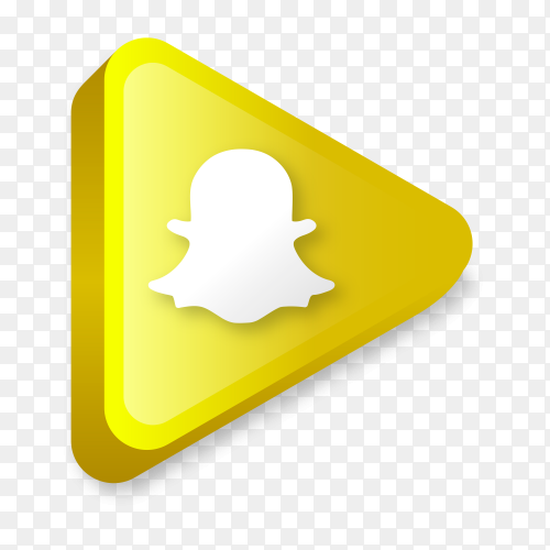 Modern Snapchat icon in flat design on transparent background PNG