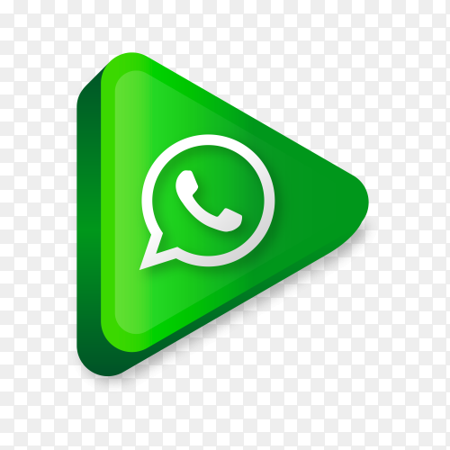 Modern Whatsapp icon in flat design on transparent background PNG