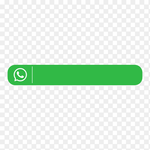 Modern Whatsapp lower third icon template on transparent background PNG