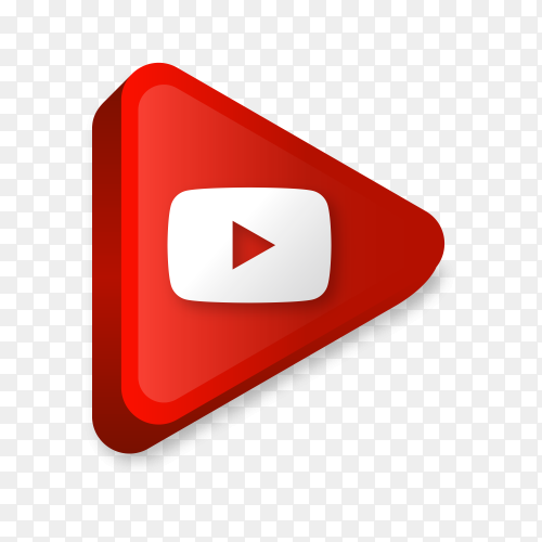 Modern YouTube icon in flat design on transparent background PNG