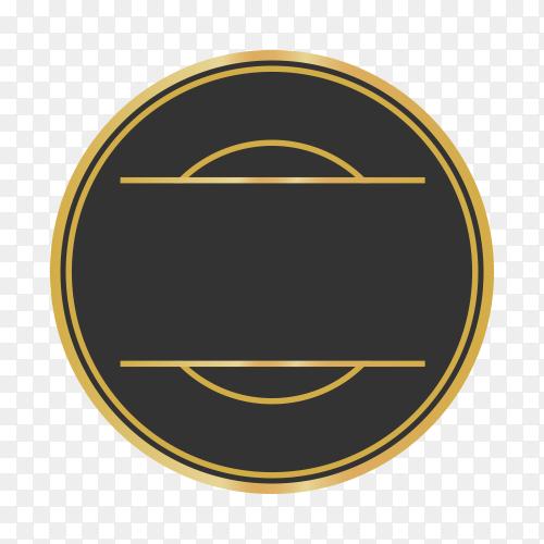 Modern empty label design premium vector PNG