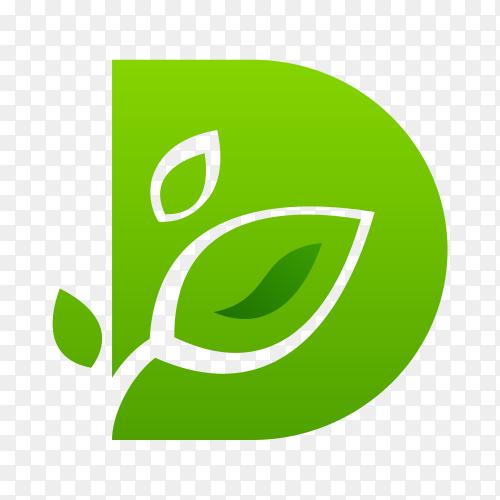 Natural logo template on transparent background PNG