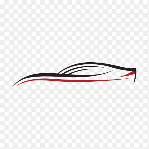 Original concept supercar, sports car and sedan motor vehicle silhouette isolated premium vector PNG