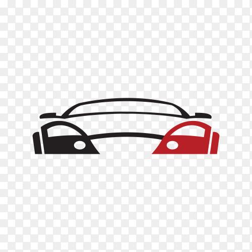 Original concept super car, sports car and sedan motor vehicle silhouette premium vector PNG