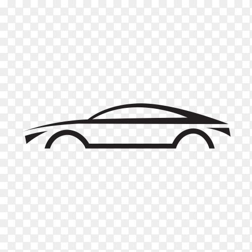 Original concept super car on transparent background PNG
