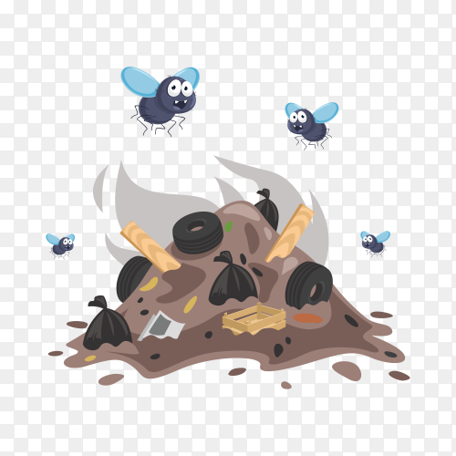 Pile of garbage on transparent background PNG
