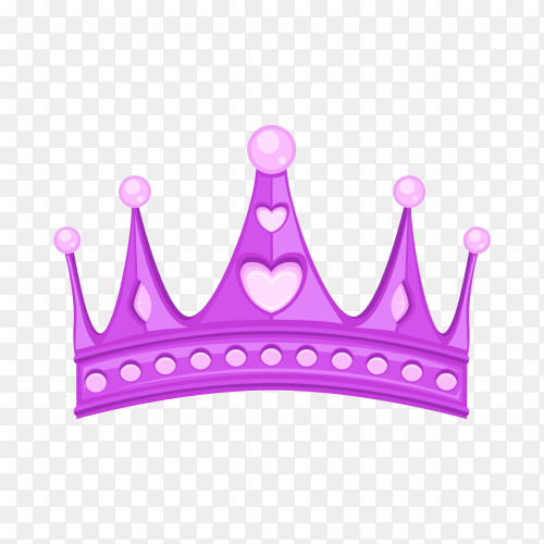 Purple crown isolated on transparent background PNg