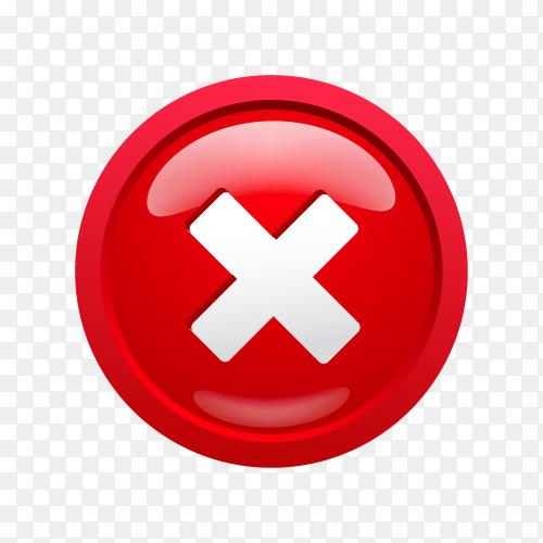 Red cross sign design on transparent background PNG