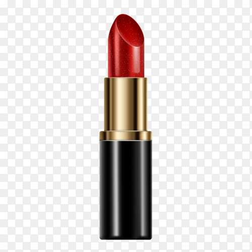 Red lipstick isolated on transparent background PNG