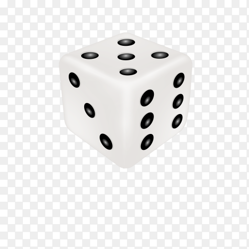 Rolling dice isolated on transparent background PNG