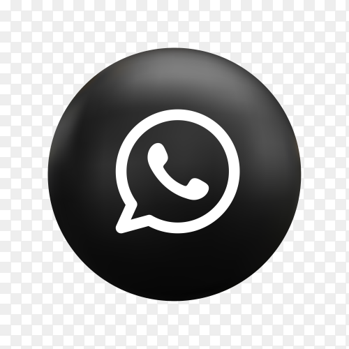 Round Whatsapp icon in flat design on transparent background PNG