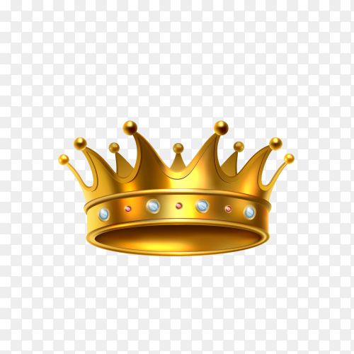 Royal crown illustration on transparent background PNG