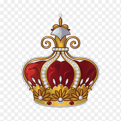 Royal crown isolated on transparent background PNG