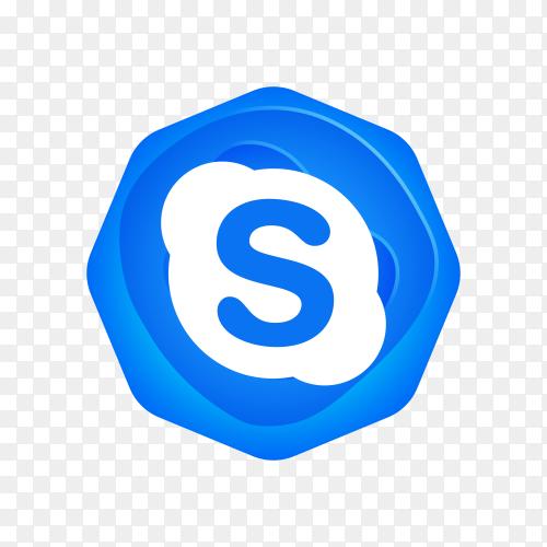 Skype logo design on transparent background PNG