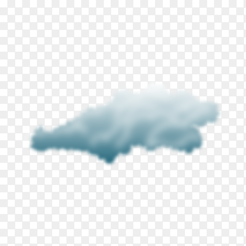 Storm cloud in realistic style on transparent background PNG