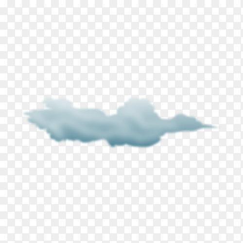 Storm cloud isolated on transparent background PNG