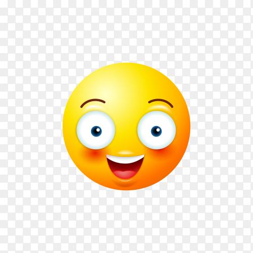 Surprised Emoji  Icon on transparent background PNG