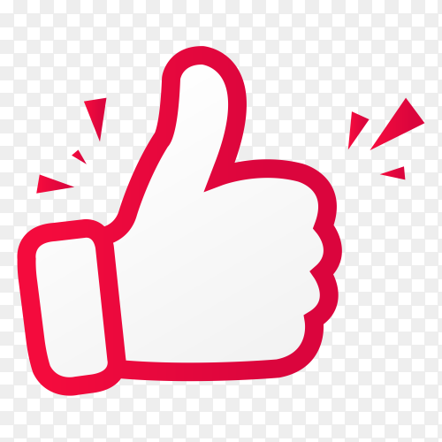 Thumbs up sticker on transparent background PNG