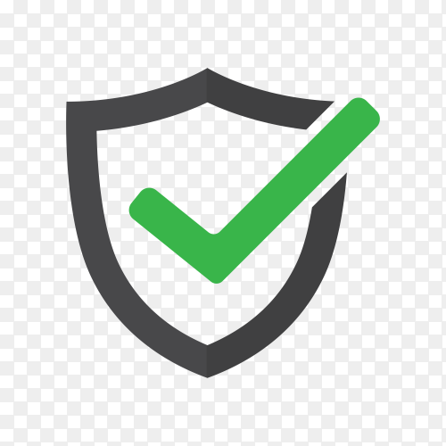 Tick mark approved icon on transparent background PNG