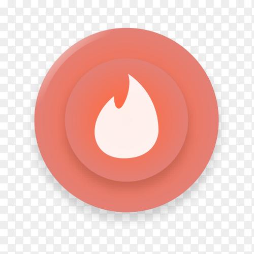 Tinder logo design on transparent background PNG