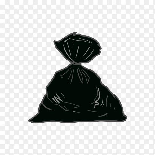 Trash bag isolated on transparent background PNG