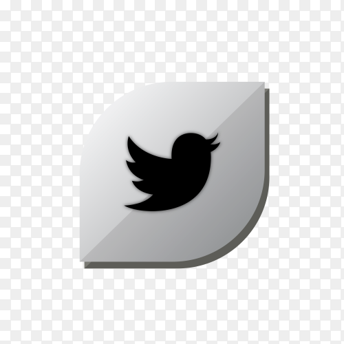 Twitter icon design isolated on transparent background PNG