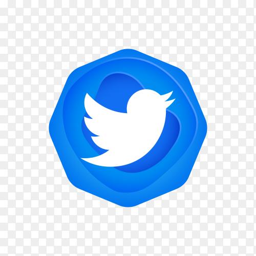 Twitter logo design on transparent background PNG