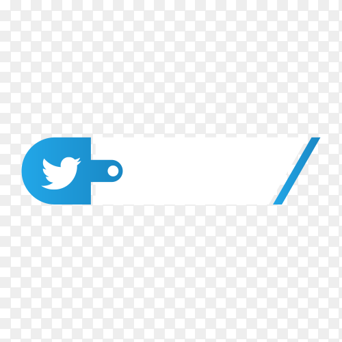 Twitter lower third icon on transparent background PNG