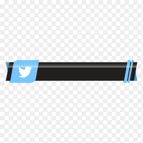 Twitter lower third icon template on transparent background PNG