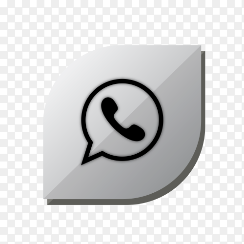 Whatsapp icon design isolated on transparent background PNG