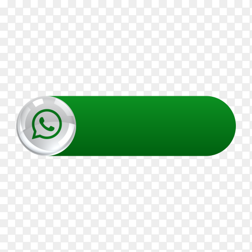 Whatsapp icon in banner lower third on transparent background PNG