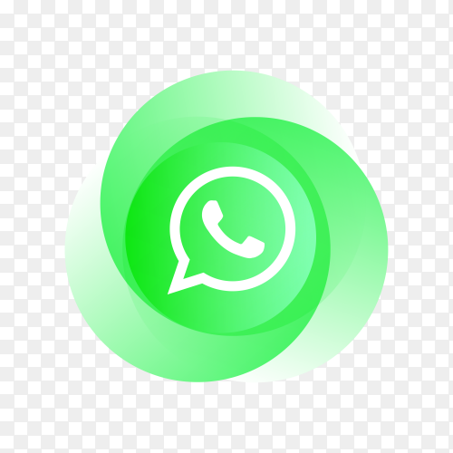 Whatsapp icon with colorful design on transparent background PNG