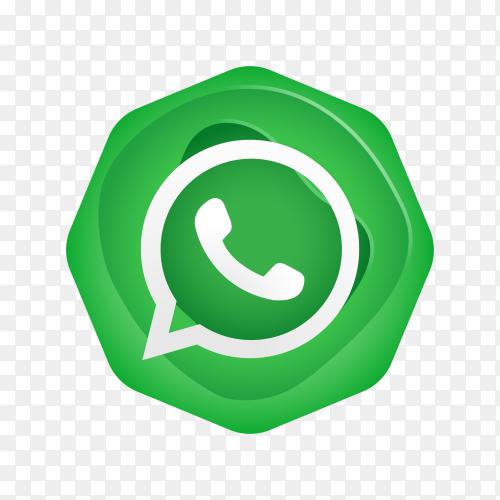 Whatsapp logo design on transparent background PNG