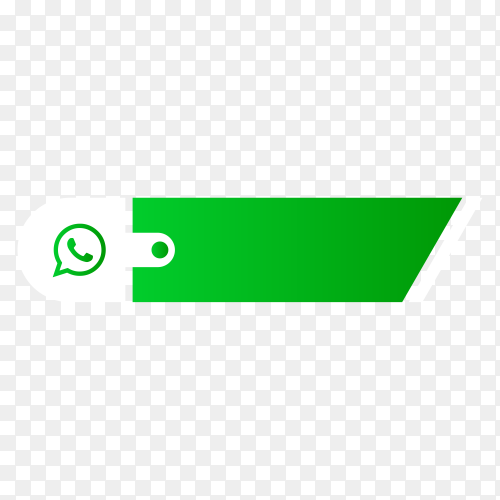 Whatsapp lower third icon isolated on transparent background PNG